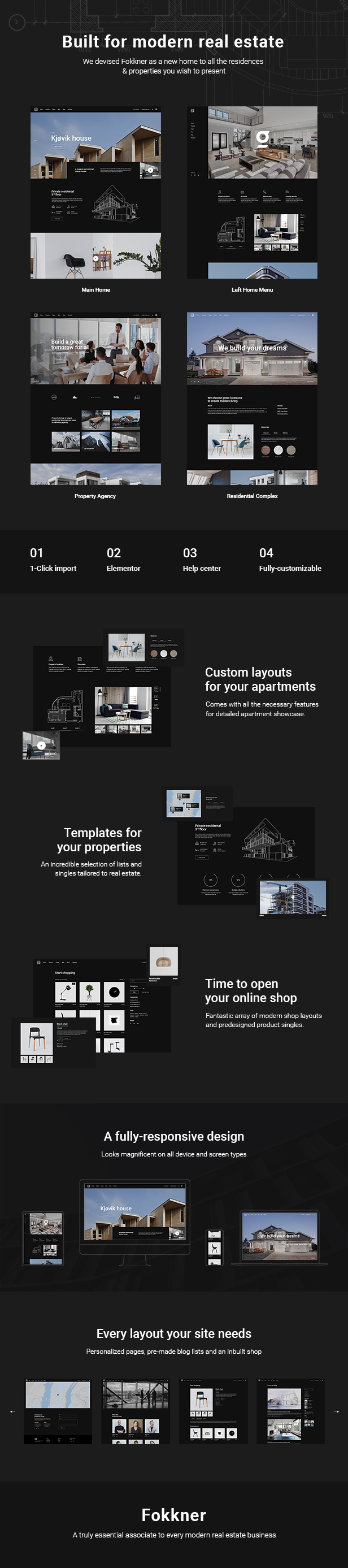 Fokkner - Real Estate and Property Theme - 2
